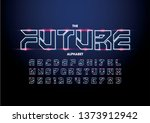 vector of stylized modern font... | Shutterstock .eps vector #1373912942