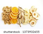 fruit chips made from pears ... | Shutterstock . vector #1373932655