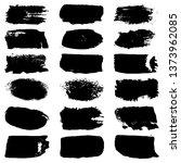 set of grunge spots  strokes.... | Shutterstock .eps vector #1373962085