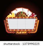 brightly vintage glowing retro... | Shutterstock .eps vector #1373990225