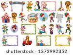 set of different circus objects ... | Shutterstock .eps vector #1373992352
