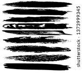 set of grunge spots  strokes.... | Shutterstock .eps vector #1373999345