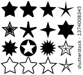 star icons set. five star... | Shutterstock .eps vector #1374008345