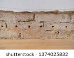 old ruined wall in old flat... | Shutterstock . vector #1374025832
