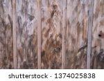 dirty wooden wall | Shutterstock . vector #1374025838