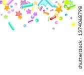 sprinkles grainy. cupcake... | Shutterstock .eps vector #1374068798