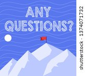 text sign showing any questions ... | Shutterstock . vector #1374071732
