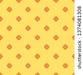 red and yellow seamless pattern ... | Shutterstock .eps vector #1374081308