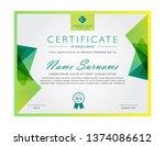 modern certificate for...   Shutterstock .eps vector #1374086612