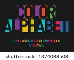 a set of colorful letters and... | Shutterstock .eps vector #1374088508