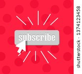 subscribe gray button... | Shutterstock .eps vector #1374123458