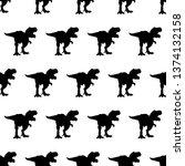silhouette tyreks  tyrex  rex... | Shutterstock .eps vector #1374132158