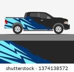 truck decal design vector....   Shutterstock .eps vector #1374138572