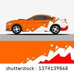 rally car wrap vector designs | Shutterstock .eps vector #1374139868