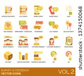 survey feedback icons including ... | Shutterstock .eps vector #1374150068
