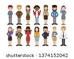 group of working people... | Shutterstock .eps vector #1374152042