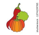 vegetables healthy food blue... | Shutterstock .eps vector #1374159785
