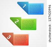 clean vector set of color... | Shutterstock .eps vector #137420996