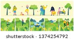 vector background with... | Shutterstock .eps vector #1374254792