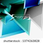 bright colorful triangular poly ... | Shutterstock .eps vector #1374263828