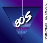 80's retro futuristic... | Shutterstock .eps vector #1374269072