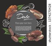 date vector hand drawn healthy... | Shutterstock .eps vector #1374270428