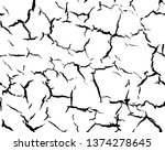 vector texture with many cracks ... | Shutterstock .eps vector #1374278645