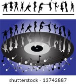 silhouettes of people dancing... | Shutterstock .eps vector #13742887