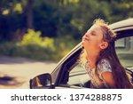 fun happy enjoying traveling... | Shutterstock . vector #1374288875