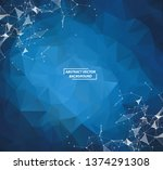 abstract geometric dark blue... | Shutterstock .eps vector #1374291308