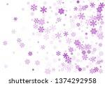 snow flakes falling macro... | Shutterstock .eps vector #1374292958
