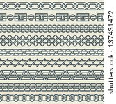 set of seamless vintage borders ... | Shutterstock .eps vector #137431472