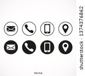 contact us icons. web icon set. ... | Shutterstock .eps vector #1374376862