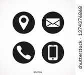 contact us icons. web icon set. ... | Shutterstock .eps vector #1374376868