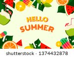 summer colorful background ... | Shutterstock .eps vector #1374432878