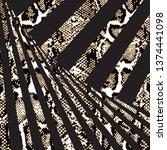 animal print  snake skin... | Shutterstock .eps vector #1374441098