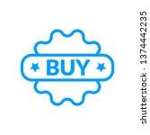 buy sticker icon  vector full... | Shutterstock .eps vector #1374442235