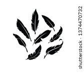 feather logo vector | Shutterstock .eps vector #1374470732