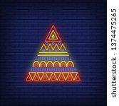 triangular african ornament...   Shutterstock .eps vector #1374475265