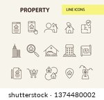 property line icon set. house ...   Shutterstock .eps vector #1374480002