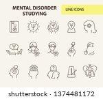 mental disorder studying line... | Shutterstock .eps vector #1374481172