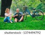 senior couple relax in the park ... | Shutterstock . vector #1374494792