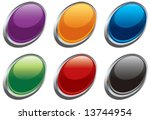 vector glass oval buttons   Shutterstock .eps vector #13744954