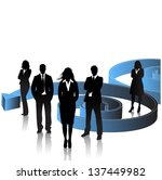 business people with arrow... | Shutterstock .eps vector #137449982