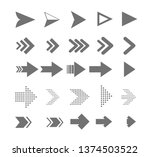 arrow icons. vector pointers... | Shutterstock .eps vector #1374503522