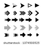 arrow icons. vector pointers... | Shutterstock .eps vector #1374503525