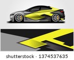 livery decal car vector  ... | Shutterstock .eps vector #1374537635