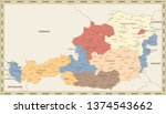 austria administrative map... | Shutterstock .eps vector #1374543662