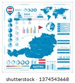 austria map and infographic... | Shutterstock .eps vector #1374543668