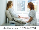 yong beautiful blond ailing...   Shutterstock . vector #1374548768